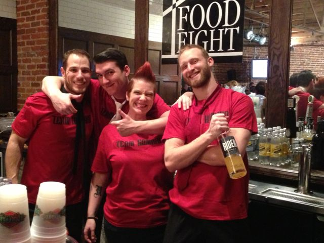 Travis Stewart, Jake Cole, Jenn Tosatto and Brock Schulte brought their mad skills to the bar